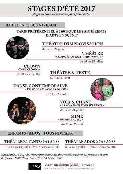 Stage été « La voix dans tous ses états » à Arts en Scène