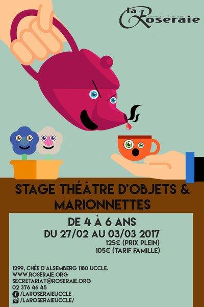 Stage théâtre d'objets pour les enfants de 4 à 6 ans (carnaval)