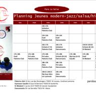 Planning cours enfants/jeunes 2014/2015