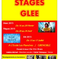 Stage Glee ouvert à tous ! De 13 à 18 ans