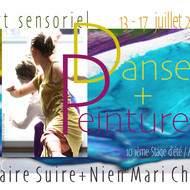 Peinture et danse sensorielles : le stage d'été !!